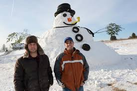 giant snowman in guilderland the daily gazette