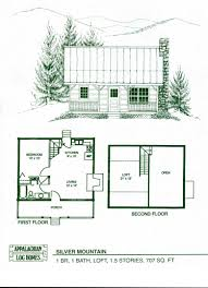 log cabin floor plans with loft log home package kits log cabin kits silver mountain model within