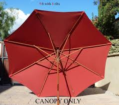 Patio Umbrella Canopy Replacement 8 Ribs by Amazon Com 9ft Umbrella Replacement Canopy 8 Ribs In Brick Red