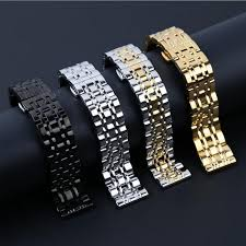 butterfly clasp bracelet images Metal stainless steel watch band wrist strap 16mm 18mm 20mm 22mm jpg