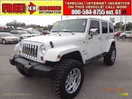 white jeep 4 door jeep wrangler unlimited white with black rims image 124