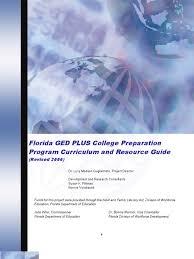 florida ged plus college preparation program curriculum and