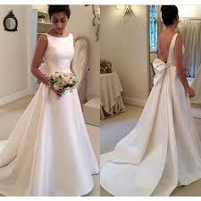 aliexpress com buy bf1027 elegant white satin wedding dresses