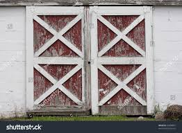 Painted Barn Doors by Rustic Old Red White Barn Doors Stock Photo 30408007 Shutterstock