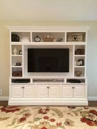 In Wall Shelves by Built In Entertainment Center Using Ikea Hemne Pieces 2 Bookcases