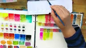 review sennelier watercolour paint unpacking colour chart