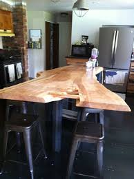 counter tops urban lumber company live edge maple kitchen island with maple butterflies