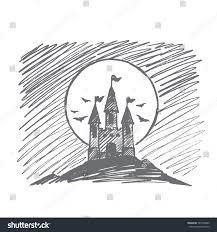 vector hand drawn halloween concept sketch stock vector 507796849