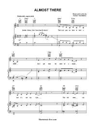 sheet music princess frog sheet music free