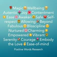 positive words starting with letter m positive words research