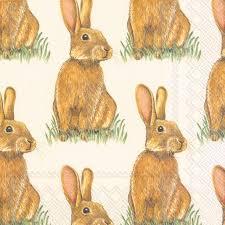 easter napkins eddie easter bunny luncheon paper napkins modern lola