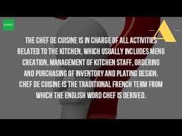 chef de cuisine salary what is the chef de cuisine