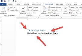 create table of contents in word how to create a toc in word 2013 daves computer tips