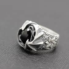 mens silver rings sterling silver wing mens ring callvogue