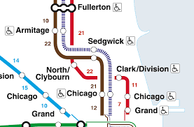Brown Line Map Chicago by This Map Shows The Walking Distance Between Cta U0027l U0027 Stations