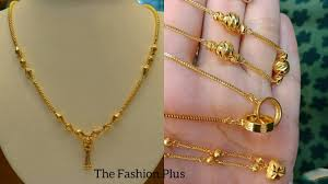 light chain necklace images Light weight gold chain necklaces designs for daily wear jpg