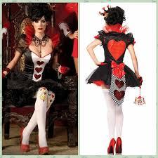 Cheap Halloween Costumes Size Halloween Costume Queen Hearts Poker Las Vegas Casino