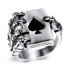 men rings style images Vintage style stainless steel men rings gothic skull hand claw jpg