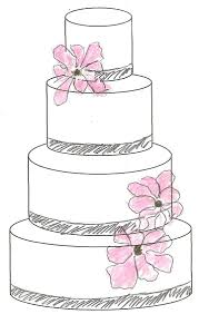 wedding cake outline free cake sketcher web app it draws a cake sketch template of