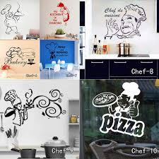 stickers pour cuisine d馗oration cuisine stickers muraux chef de cuisine amovible stickers muraux