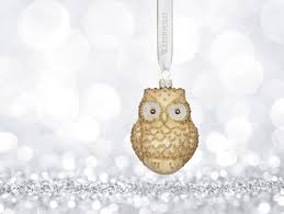 waterford 2017 holiday heirloom winter frost lismore golden owl