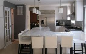 kitchen l shaped island 79 great white kitchen islands with stools stunning bar at