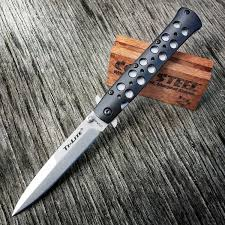 folded steel kitchen knives cold steel ti lite folding pocket knife blade aegis gears