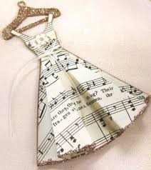 Musical Note Ornaments Musical Prima Doll Tag Notes Piano Song Glitter