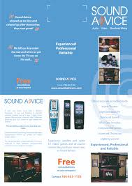 flyer design for sound advice by d gray design 23744