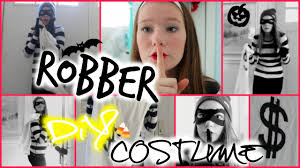 Halloween Burglar Costume Easy Cute Diy Robber Costume Makeup