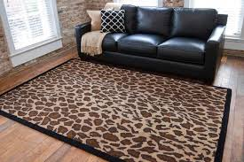 Brown Animal Print Rug The Awesome Of Leopard Print Carpet