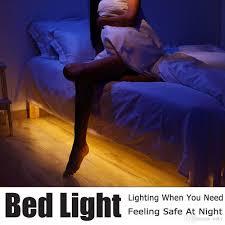 2017 motion activated bed light flexible led strip sensor night
