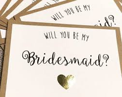 bridesmaid cards bridesmaid cards etsy