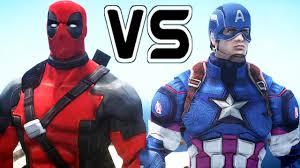captain america deadpool epic battle
