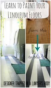 how to paint linoleum floors by designer trapped in a lawyer u0027s