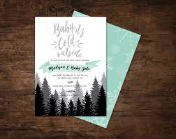baby its cold outside baby shower invitation baby blue instead of