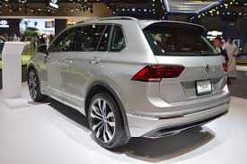 volkswagen jeep tiguan vw tiguan r line rear three quarters left side at 2017 dubai motor