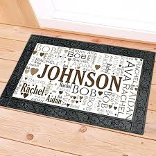 Personalized Outdoor Rugs Best Choice Of Personalized Outdoor Mats Door Family Word