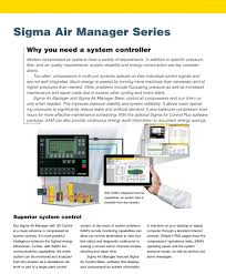 sigma air manager air solutions kaeser air compressors