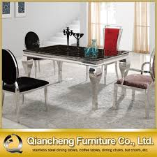 Dining Table Marble Top Stainless Steel Dining Table Top Home Design Ideas