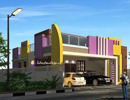 flat roof 2 bhk south indian home design by ns architect