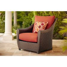 Patio Furniture From Home Depot - brown jordan highland patio sofa with cinnabar cushions and empire