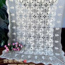 Free Shipping Flowers Free Shipping Oval Beige Cotton Crochet Lace Tablecloth Cover For