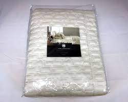 Ivory Quilted Bedspread Hotel Collection Maze Quilted King Coverlet Ivory