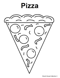 cookie coloring pages slice pizza coloring page kids coloring art