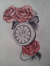 owl clock and roses tattoo designs photo 6 real photo pictures