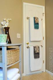 small bathroom towel rack ideas 8 ways to make a small bathroom look big towel rod towels and doors
