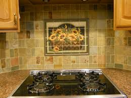 kitchen mural backsplash decorative tile backsplash kitchen tile ideas sunflower basket