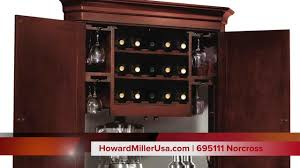 Corner Wine Cabinets Howard Miller Wine U0026 Bar Corner Cabinet 695111 Norcross Youtube