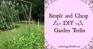 build a garden trellis simple and cheap diy garden trellis our heritage of health
